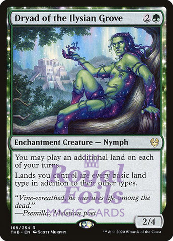 **1x FOIL Dryad of the Ilysian Grove** THB MTG Theros Beyond Death Rare MINT green