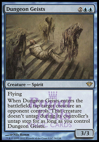 **1x FOIL Dungeon Geists** DKA MTG Dark Ascension Rare MINT blue
