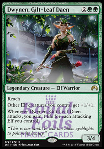 **1x FOIL Dwynen Gilt-Leaf Daen* ORI MTG Magic Origins Rare MINT green