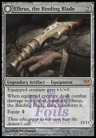 **1x FOIL Elbrus the Binding Blade // Withengar Unbound** DKA MTG Dark Ascension Mythic NM+ artifact