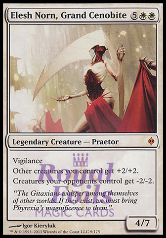 **1x FOIL Elesh Norn Grand Cenobite** NPH MTG New Phyrexia Mythic MINT white