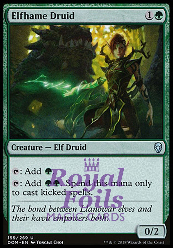 **2x FOIL Elfhame Druid** DOM MTG Dominaria Uncommon MINT green