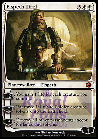 **1x FOIL Elspeth Tirel** SOM MTG Scars of Mirrodin Mythic NM+ white