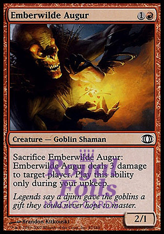 **4x FOIL Emberwilde Augur** FUT MTG Future Sight Common NM+ red
