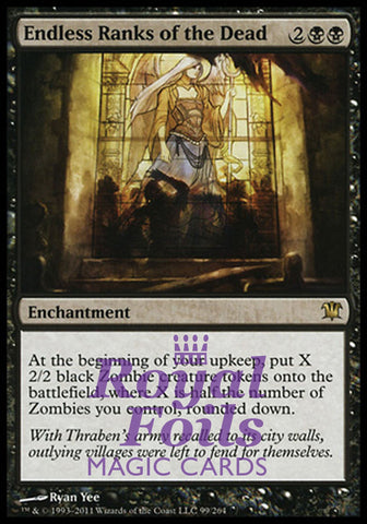 **1x FOIL Endless Ranks of the Dead** ISD MTG Innistrad Rare MINT black