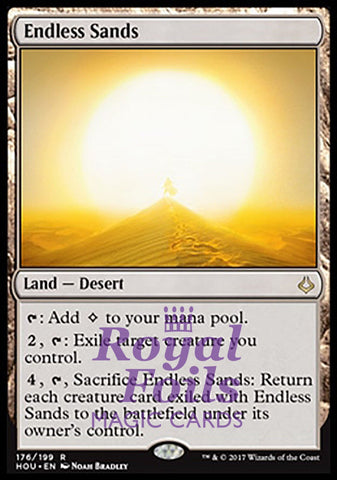 **1x FOIL Endless Sands** HOU MTG Hour of Devastation Rare MINT land