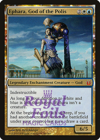 **1x FOIL Ephara, God of the Polis** BNG MTG Born of the Gods Mythic MINT white blue
