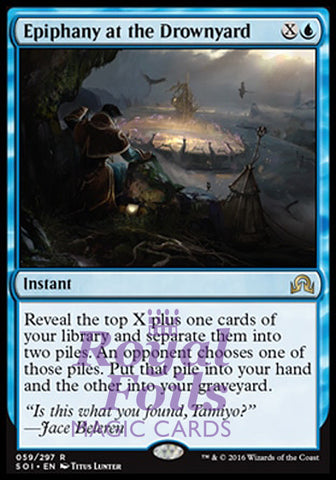 **1x FOIL Epiphany at the Drownyard** SOI MTG Shadows Over Innistrad Rare MINT blue