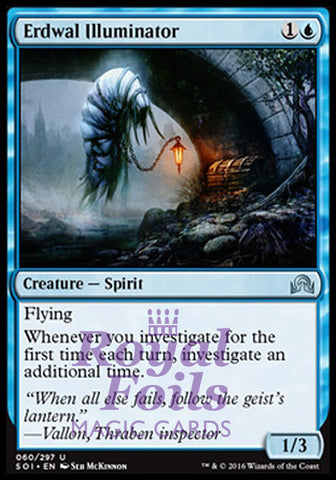 **1x FOIL Erdwal Illuminator** SOI MTG Shadows Over Innistrad Uncommon MINT blue
