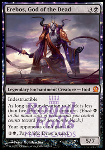 **1x FOIL Erebos God of the Dead** THS MTG Theros Mythic MINT black