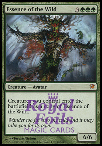 **1x FOIL Essence of the Wild** ISD MTG Innistrad Mythic MINT green