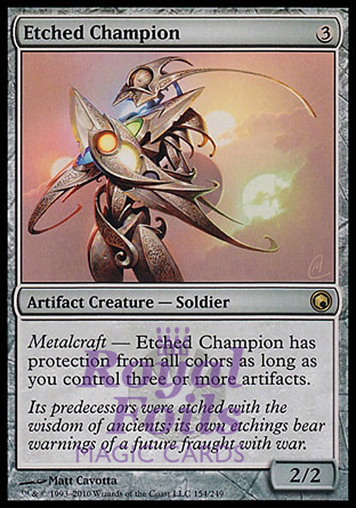 **1x FOIL Etched Champion** SOM MTG Scars of Mirrodin Rare MINT artifact