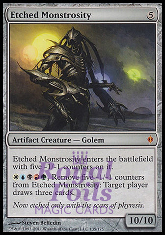 **1x FOIL Etched Monstrosity** NPH MTG New Phyrexia Mythic NM artifact