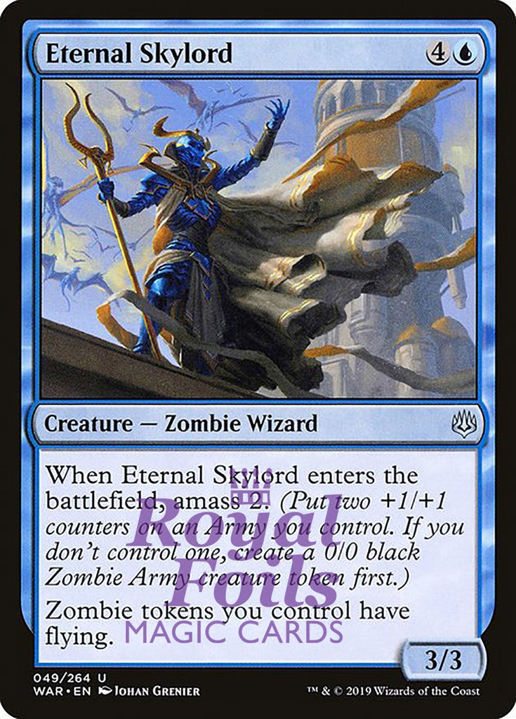 **3x FOIL Eternal Skylord** WAR MTG War of the Spark Uncommon MINT blue