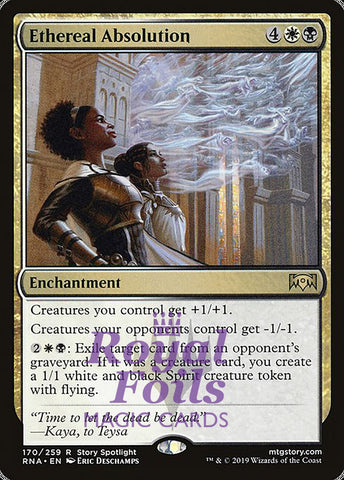 **1x FOIL Ethereal Absolution** RNA MTG Ravnica Allegiance Rare MINT white black