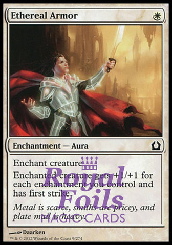 **1x FOIL Ethereal Armor** RTR MTG Return to Ravnica Common MINT white