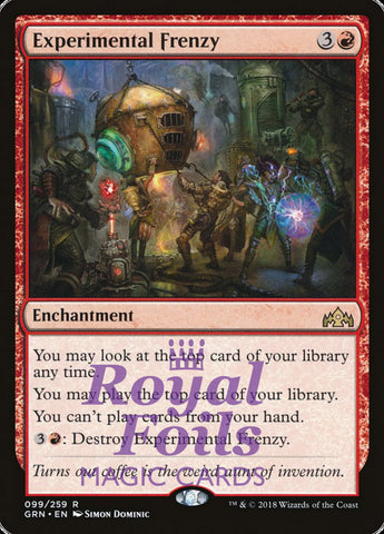 **1x FOIL Experimental Frenzy** GRN MTG Guilds of Ravnica Rare MINT red