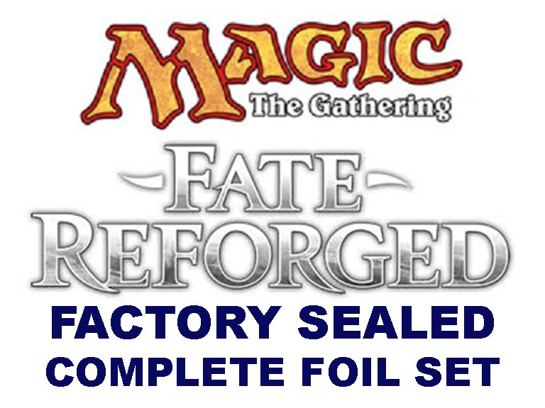 **1x Complete FOIL Fate Reforged Factory Sealed Set** MTG FRF Ugin Spirit Dragon