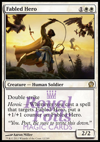 **1x FOIL Fabled Hero** THS MTG Theros Rare MINT white