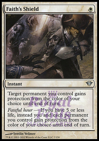 **1x FOIL Faith's Shield** DKA MTG Dark Ascension Uncommon NM white