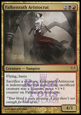 **1x FOIL Falkenrath Aristocrat** DKA MTG Dark Ascension Mythic MINT black red