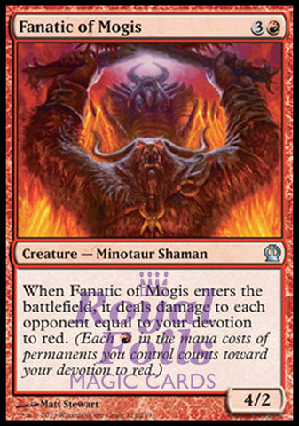 **1x FOIL Fanatic of Mogis** THS MTG Theros Uncommon MINT red