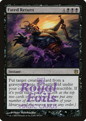 **1x FOIL Fated Return** BNG MTG Born of the Gods Rare MINT black