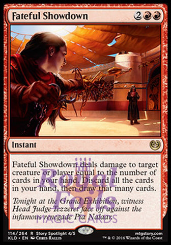 **1x FOIL Fateful Showdown** KLD MTG Kaladesh Rare MINT red instant