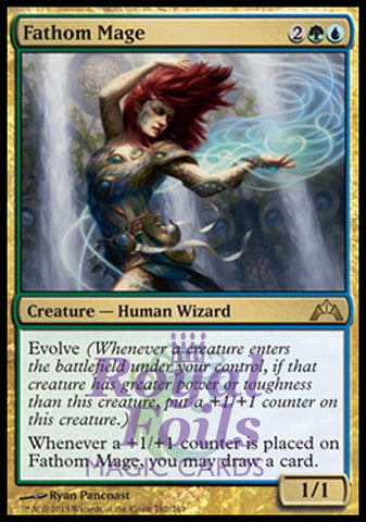 **1x FOIL Fathom Mage** GTC MTG Gatecrash Rare MINT green blue