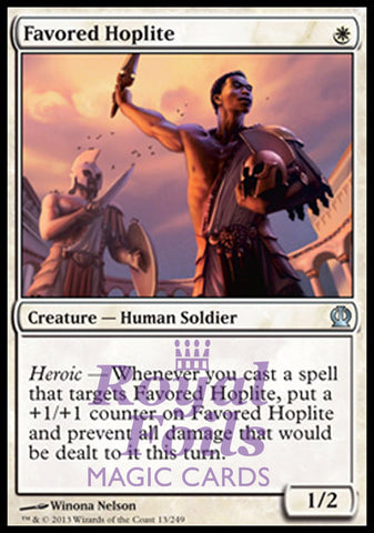 **1x FOIL Favored Hoplite** THS MTG Theros Uncommon MINT white