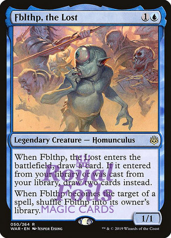 **1x FOIL Fblthp, the Lost** WAR MTG War of the Spark Rare MINT blue