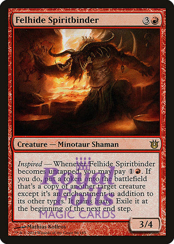 **1x FOIL Felhide Spiritbinder** BNG MTG Born of the Gods Rare MINT red