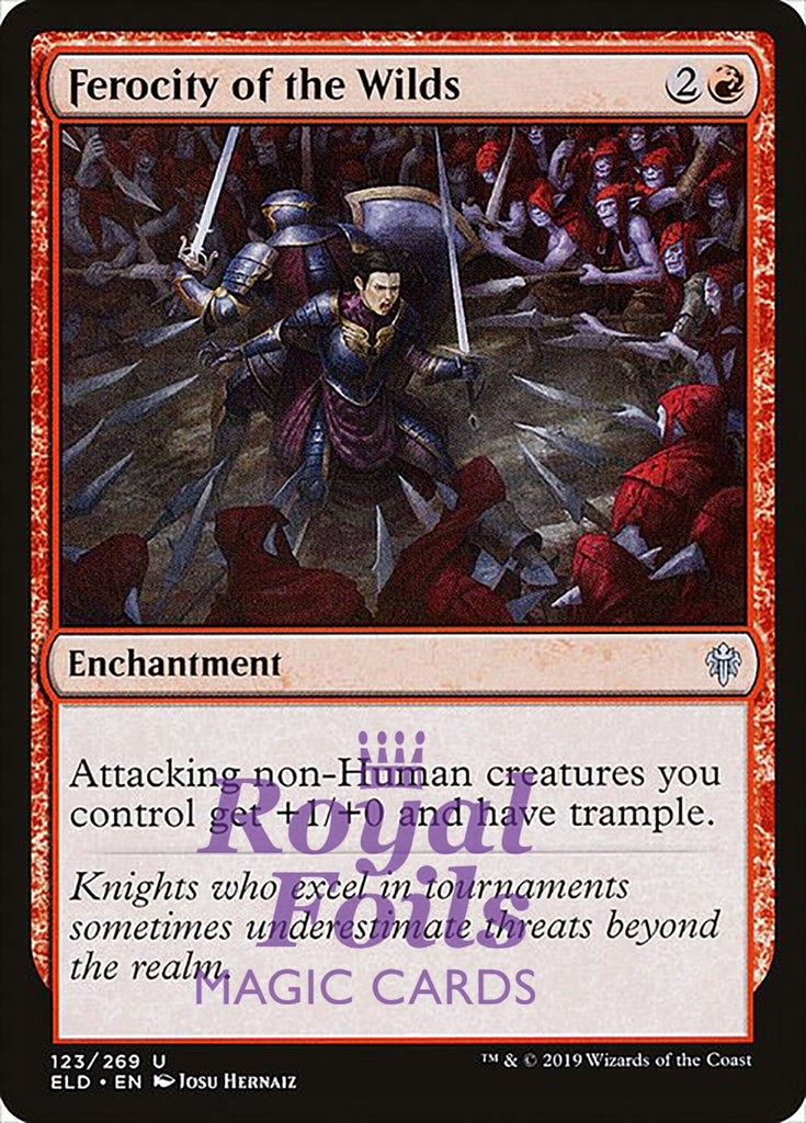 **4x FOIL Ferocity of the Wilds** ELD MTG Throne of Eldraine Uncommon MINT red