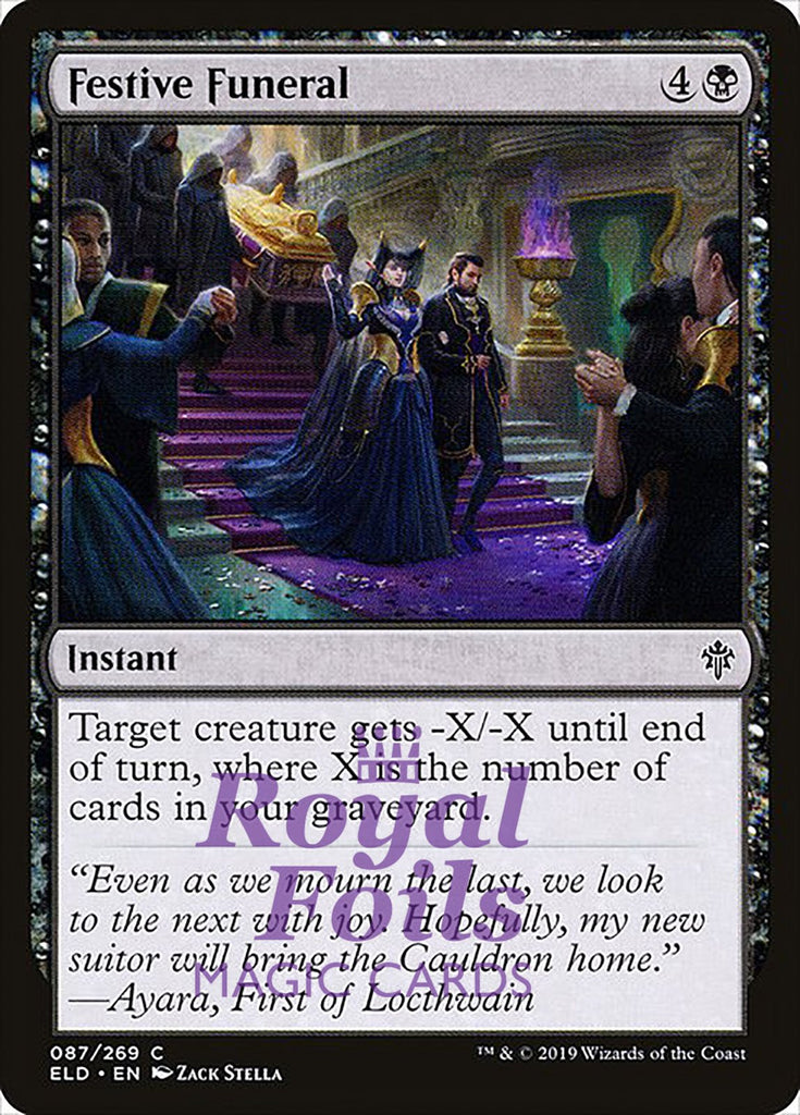 **3x FOIL Festive Funeral** ELD MTG Throne of Eldraine Common MINT black