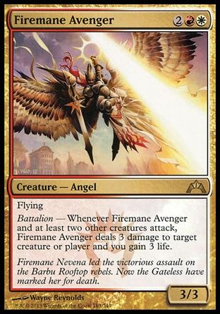 **1x FOIL Firemane Avenger** GTC MTG Gatecrash Rare MINT red white