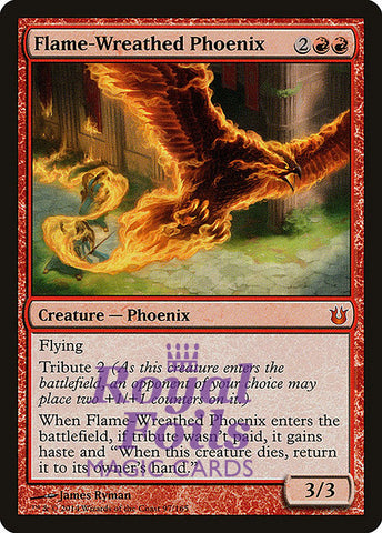 **1x FOIL Flame-Wreathed Phoenix** BNG MTG Born of the Gods Mythic MINT red