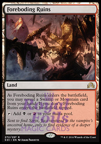 **1x FOIL Foreboding Ruins** SOI MTG Shadows Over Innistrad Rare MINT black red land