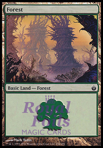**1x FOIL Forest #154** MBS MTG Mirrodin Besieged Basic Land MINT green