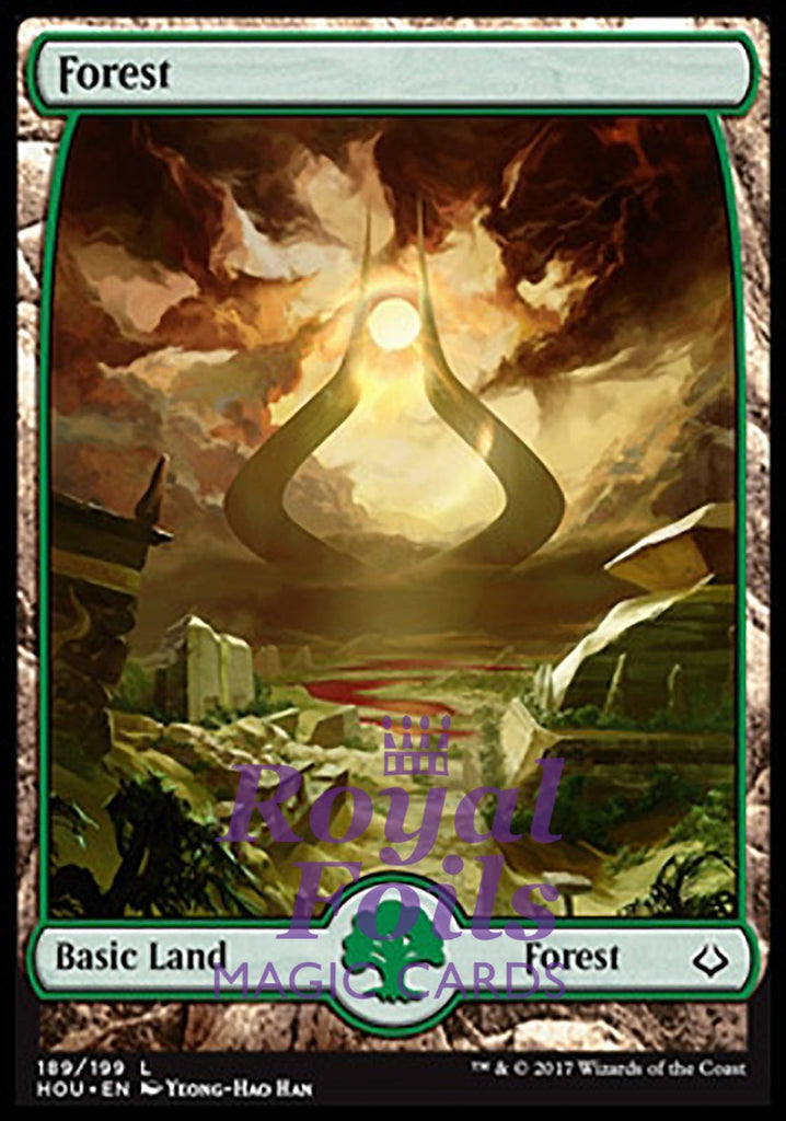 **1x FOIL Forest #189** HOU MTG Hour of Devastation Basic Land MINT green full art
