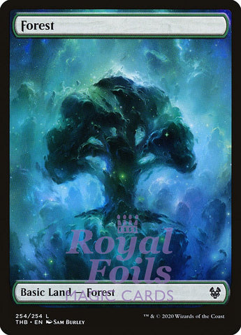 **1x FOIL Forest #254 ** THB MTG Theros Beyond Death Basic Land MINT green