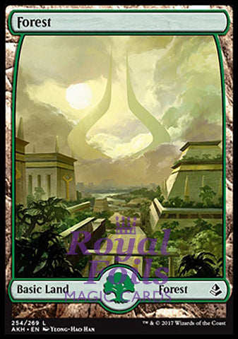 **1x FOIL Forest #254** AKH MTG Amonkhet Full Art Basic Land MINT green
