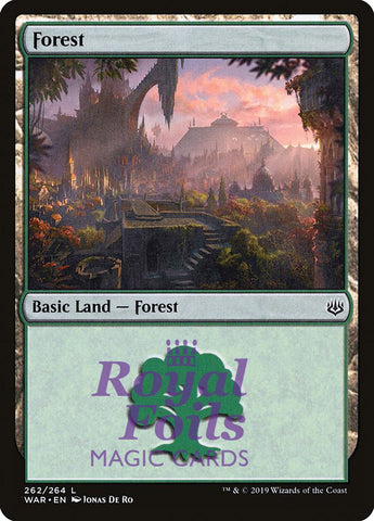 **2x FOIL Forest #262** WAR MTG War of the Spark Basic Land MINT green