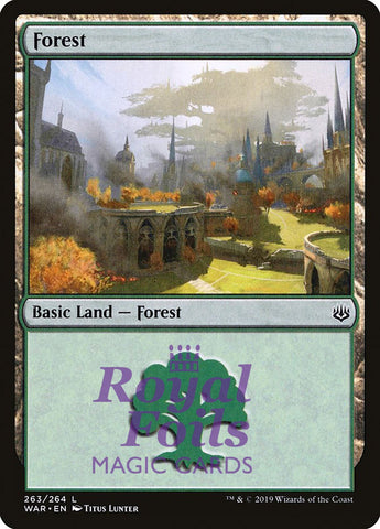 **2x FOIL Forest #263** WAR MTG War of the Spark Basic Land MINT green