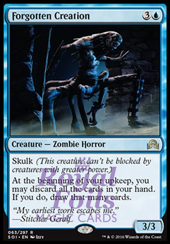 **1x FOIL Forgotten Creation** SOI MTG Shadows Over Innistrad Rare MINT blue