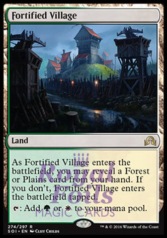 **1x FOIL Fortified Village** SOI MTG Shadows Over Innistrad Rare MINT green white land