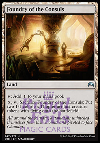 **1x FOIL Foundry of the Consuls** ORI MTG Magic Origins Uncommon MINT land