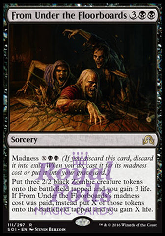 **1x FOIL From Under the Floorboards** SOI MTG Shadows Over Innistrad Rare MINT black