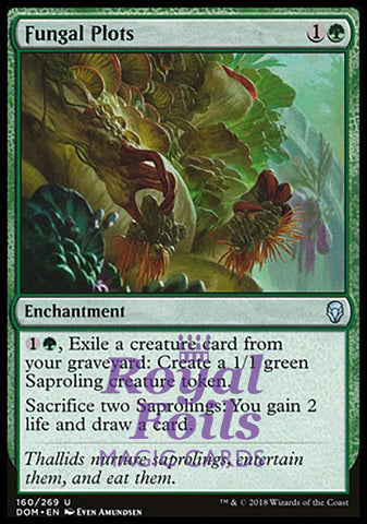 **2x FOIL Fungal Plots** DOM MTG Dominaria Uncommon MINT green