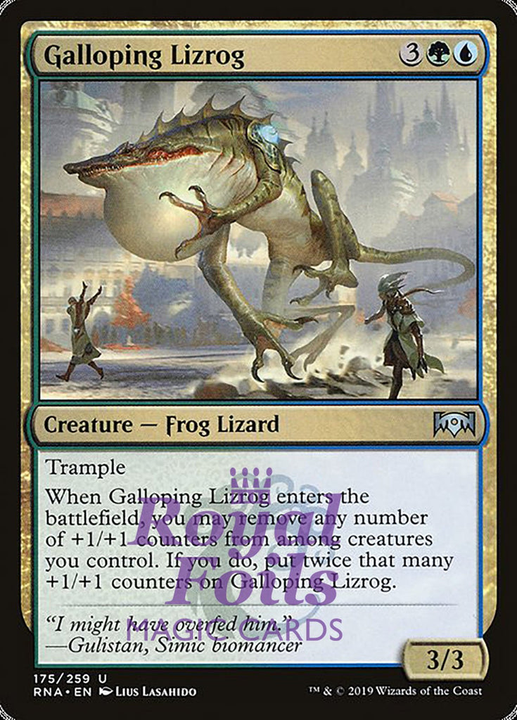 **2x FOIL Galloping Lizrog** RNA MTG Ravnica Allegiance Uncommon MINT green blue