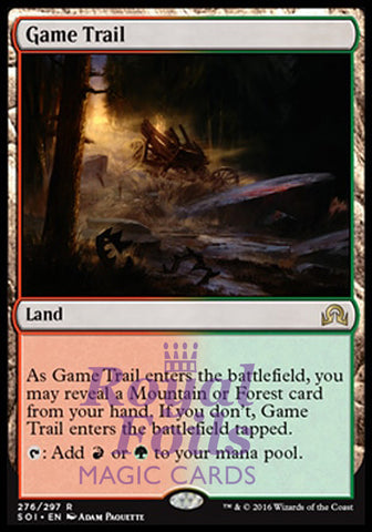 **1x FOIL Game Trail** SOI MTG Shadows Over Innistrad Rare MINT red green land